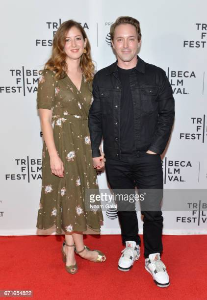 Jessy Hodges and Beck Bennett attend the 'Tilt' Premiere during 2017 Tribeca Film Festival at Cinepolis Chelsea on April 22 2017 in New York City