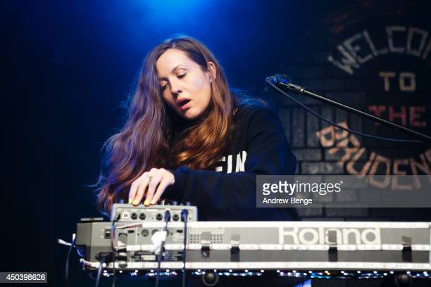 Jessy Lanza performs on stage at Brudenell Social Club on June 10 2014 in Leeds United Kingdom
