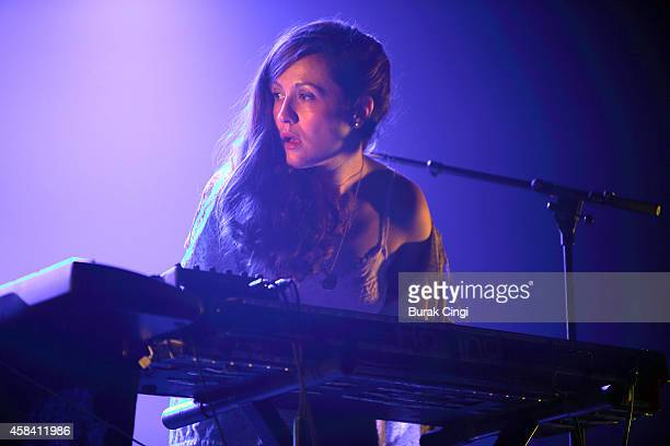Jessy Lanza performs on stage for Pitchfork Music Festival at Grande Halle de La Villette on November 1 2014 in Paris France