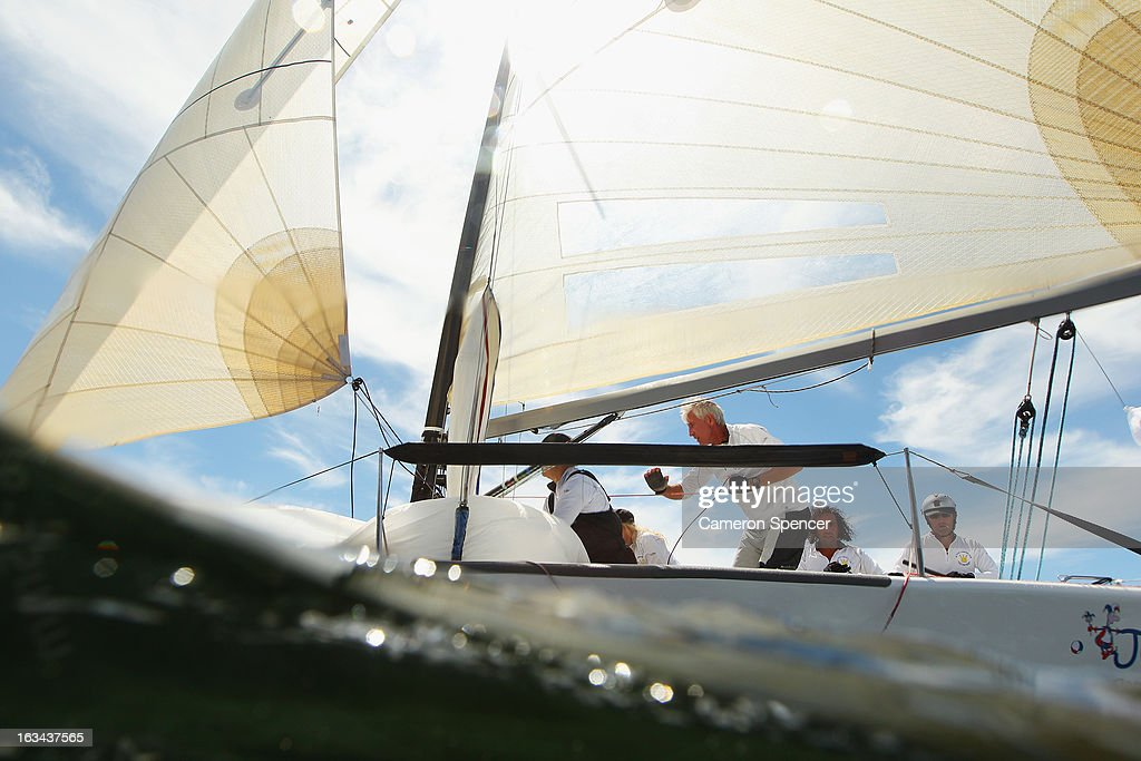 'Jester 4' sails during the Sydney Regatta on Sydney Harbour, on March 10, 2013 in Sydney, Australia.