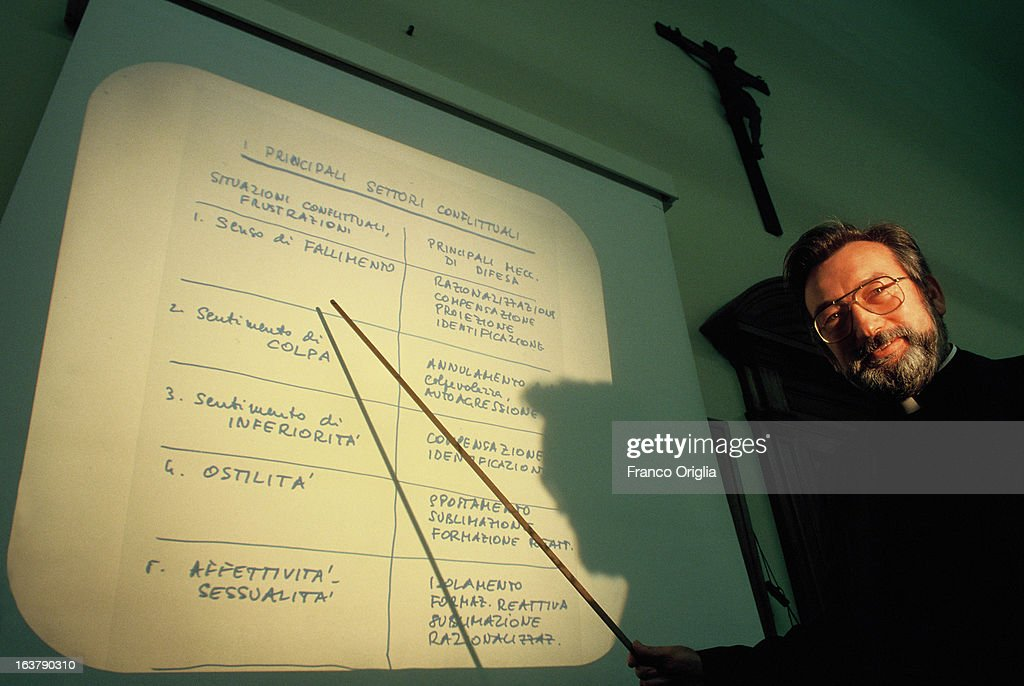 A Jesuit professor holds a lesson of Pastoral Psychology at Gregoriana University in 1991 in Rome, Italy. The Argentinian Cardinal Jorge Mario Bergoglio, was ordained for the Jesuits on 1969 at the Theological faculty of San Miguel and was elected as Pope Francis on March 13, 2013 as the first ever Jesuit Pontiff. The Society of Jesus, founded on 1540 by the Spanish , Ignatius of Loyola's, is a Christian male religious order of the Roman Catholic Church. The society is engaged in evangelization and apostolic ministry in 112 nations and on six continents. Jesuits operate in education (founding schools, colleges, universities and seminaries), intellectual research, and cultural pursuits.