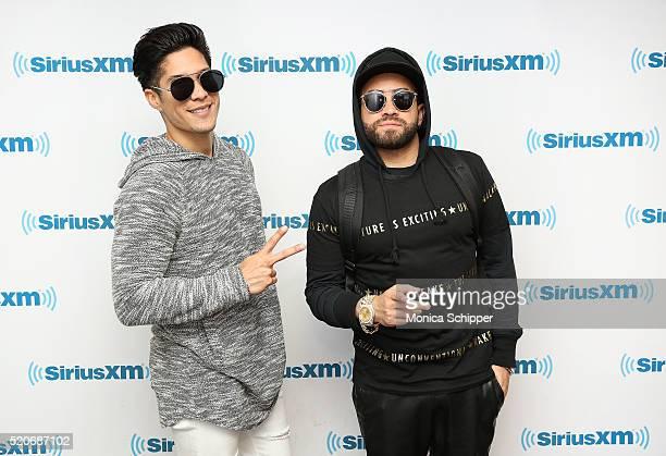 Jesus Alberto Miranda Perez and Miguel Ignacio Mendoza Donatti of Chino Nacho visit SiriusXM Studio on April 12 2016 in New York City