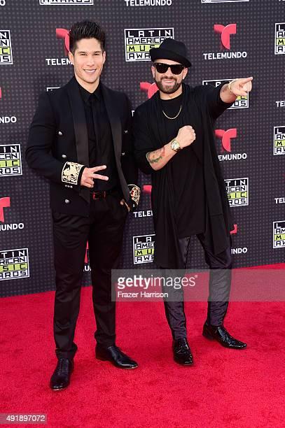 Jesus Alberto Miranda Perez and Miguel Ignacio Mendoza of Chino y Nacho attend Telemundo's Latin American Music Awards at the Dolby Theatre on...
