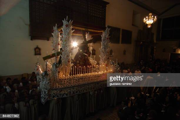 Jesus and mary procession in Ayacucho city