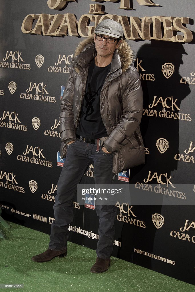 Jesus Cabanas attends 'Jack el Caza Gigantes' premiere photocall at Kinepolis cinema on March 13, 2013 in Madrid, Spain.