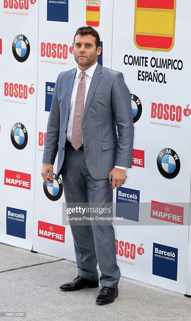 Jesus Carballo attends Spanish Olympic Commitee Centenary Gala at El Canal Theatre on December 12, 2012 in Madrid, Spain.