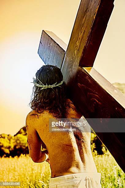 Jesus realização da cruz.