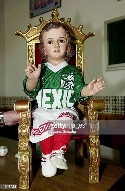Jesus Christ Child of Miracles icon is shown in the church of San Gabriel May 31 2002 in Mexico City Mexico The statue is dressed like a member of...