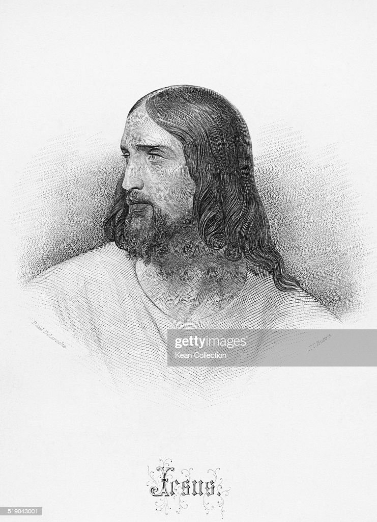 <a gi-track='captionPersonalityLinkClicked' href=/galleries/search?phrase=Jesus+Christ&family=editorial&specificpeople=75454 ng-click='$event.stopPropagation()'>Jesus Christ</a>, circa 30 AD. From an original engraving by J.C. Buttre after a painting by Paul Delaroche.