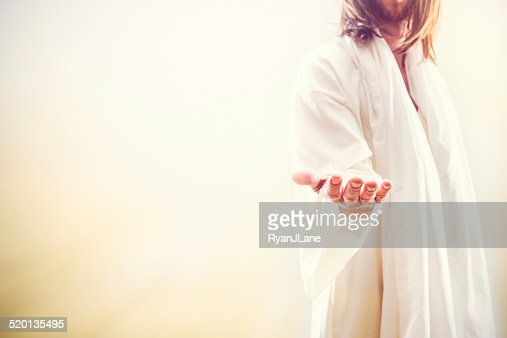 Jesus Christ Extending Welcoming Hand : Stock Photo