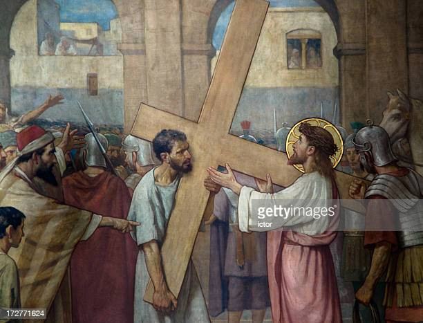 Jesus Christ taking on the cross