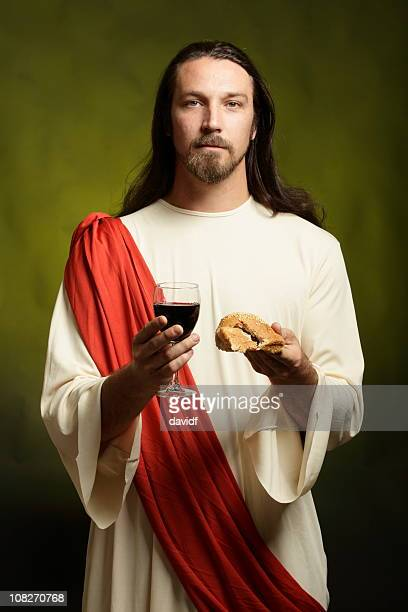 Jesus Christ With Bread and Wine