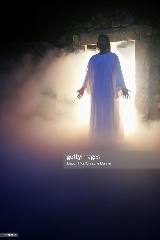 Jesus coming out of the tomb
