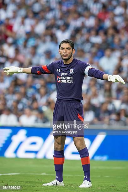 Jesus Corona goalkeeper of Cruz Azul looks on during the 3rd round match between Monterrey and Cruz Azul as part of the Torneo Apertura 2016 Liga MX...