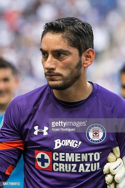 Jesus Corona goalkeeper of Cruz Azul pose prior the 3rd round match between Monterrey and Cruz Azul as part of the Torneo Apertura 2016 Liga MX at...
