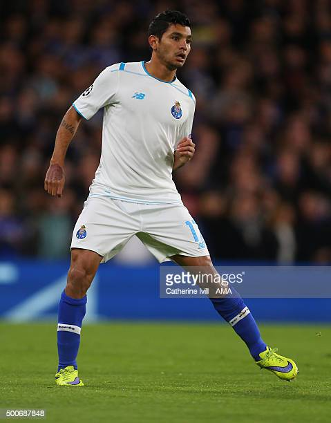 Jesus Corona of FC Porto during the UEFA Champions League match between Chelsea and FC Porto at Stamford Bridge on December 9 2015 in London United...