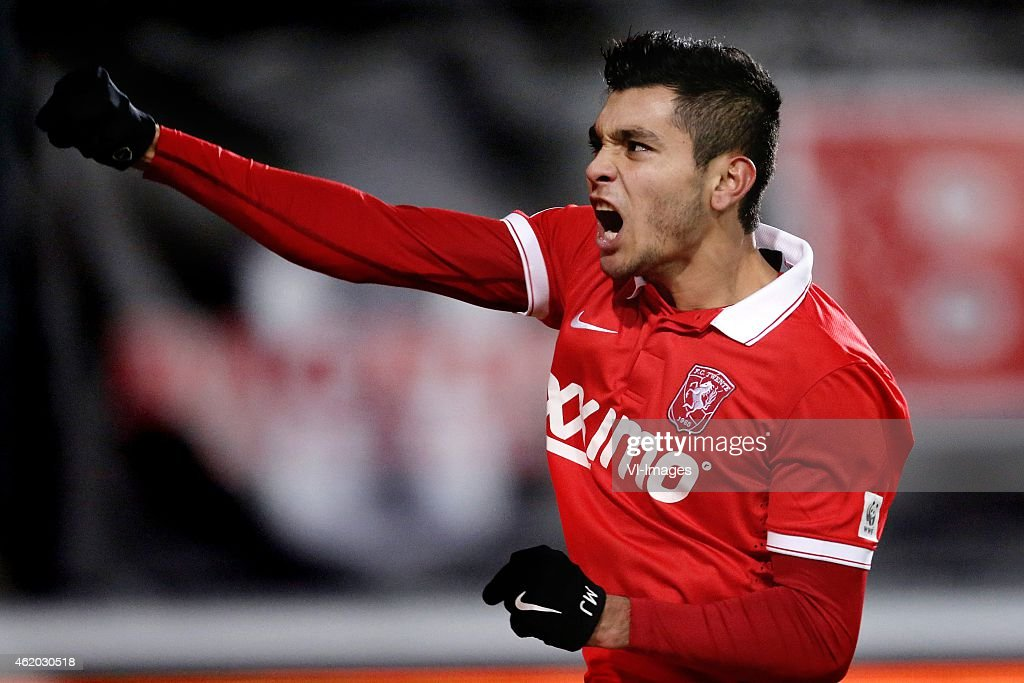 Jesus Corona of FC Twente during the Dutch Eredivisie match between FC Twente and Heracles Almelo at the Grolsch Veste on january 23 2015 in Enschede...