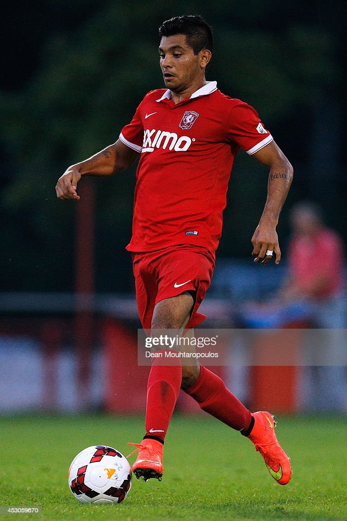 Jesus Corona of FC Twente Youth in action during the pre season friendly match between FC Twente Youth and Ross County held at the Hengelo...