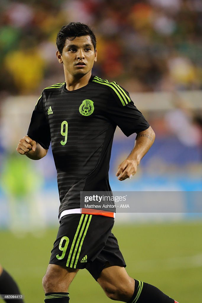 Jesus Corona #9 of Mexico during the 2015 CONCACAF Gold Cup Final match between Jamaica and Mexico at Lincoln Financial Field on July 26, 2015 in Philadelphia, Pennsylvania.