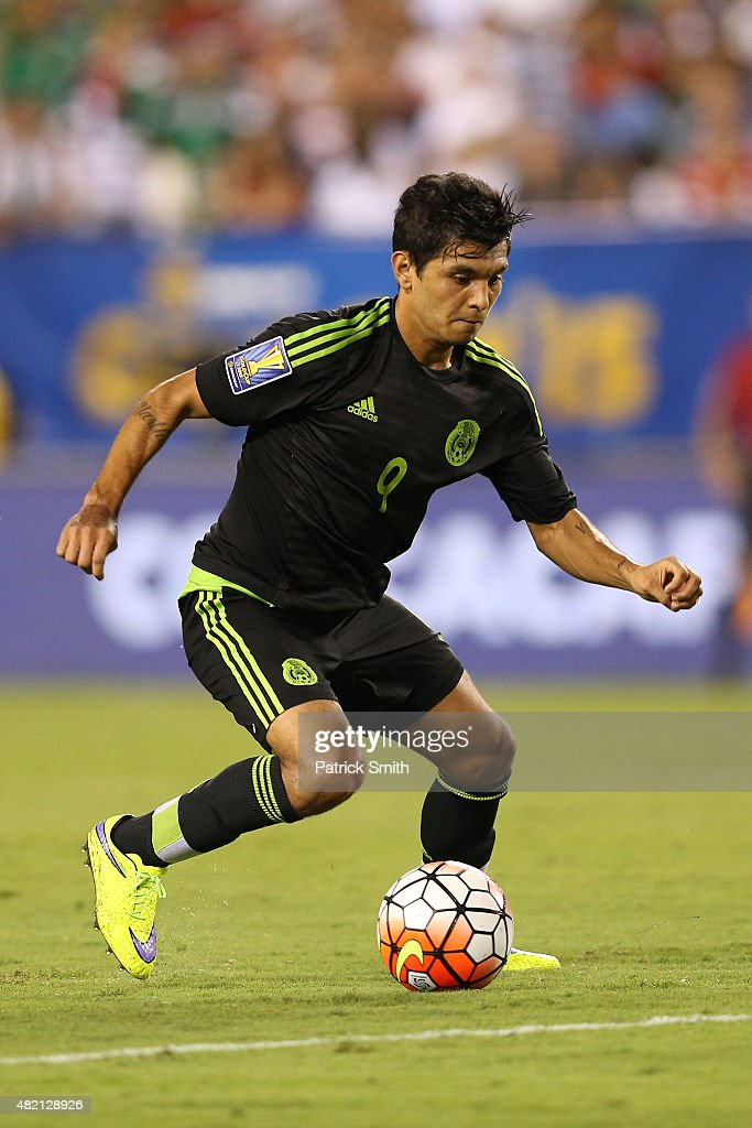 Jesus Corona of Mexico in action against Jamaica during the CONCACAF Gold Cup Final at Lincoln Financial Field on July 26 2015 in Philadelphia...