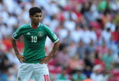 Jesus Corona of Mexico looks on during the FIFA U20 World Cup Round of 16 match between Spain and Mexico at the Ali Sami Yen Arena on July 2 2013 in...