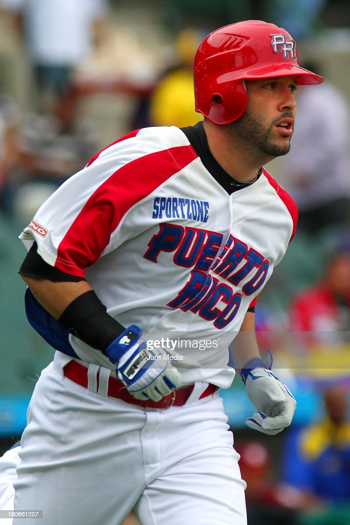 <a gi-track='captionPersonalityLinkClicked' href=/galleries/search?phrase=Jesus+Feliciano&family=editorial&specificpeople=5710825 ng-click='$event.stopPropagation()'>Jesus Feliciano</a> of Puerto Rico in action during the Caribbean Series 2013 at Sonora Stadium on February 03, 2013 in Hermosillo, Mexico.