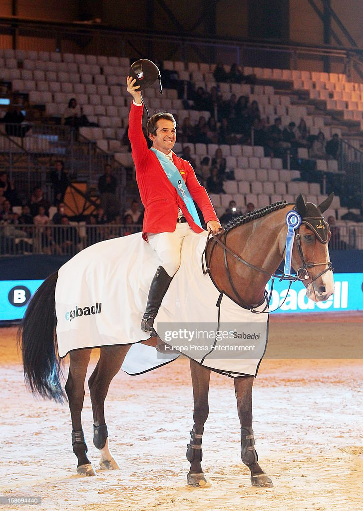 Jesus Garmendia attends Madrid Horse Week Fair 2012 at Ifema on December 23, 2012 in Madrid, Spain.