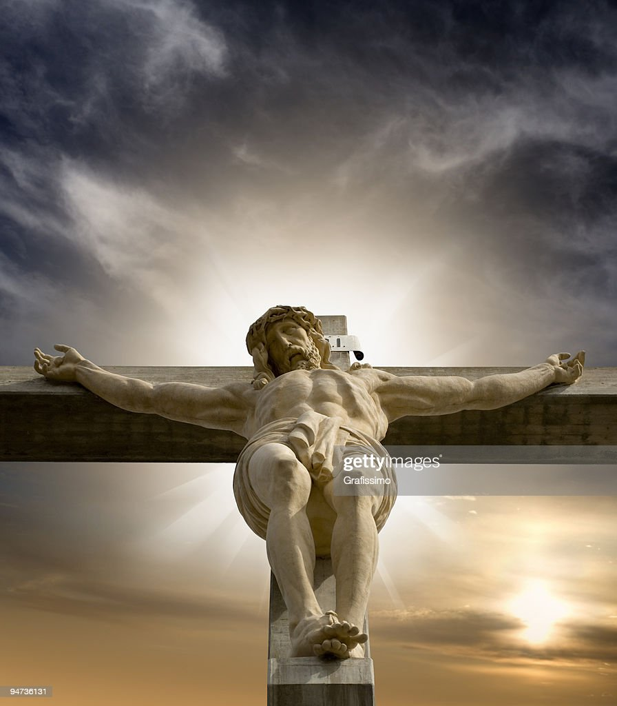 jesus hanging on the cross stock photo getty images