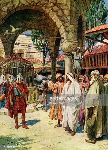 Jesus heals a centurion 's servant 'And when he was entered into Capernaum there came unto him a centurion beseeching him and saying Lord my servant...