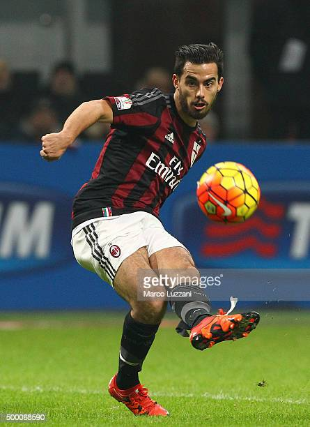 Jesus Joaquin Fernandez Saenz Suso of AC Milan in action during the TIM Cup match between AC Milan and FC Crotone at Stadio Giuseppe Meazza on...