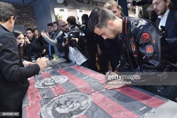 Jesus Joaquin Fernandez Saez de la Torre attends The New Bomber Presentation at the Diesel Store on March 14 2017 in Milan Italy