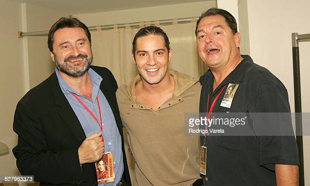 Jesus Lopez chairman of Universal Music Latin America David Bisbal and John Echevarria president of Universal Music Latino