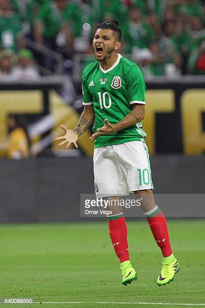 Jesus Manuel Corona of Mexico reacts during a group C match between Mexico and Venezuela at NRG Stadium as part of Copa America Centenario US 2016 on...