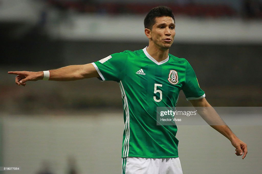 Jesus Molina of Mexico reacts during the match between Mexico and Canada as part of the FIFA 2018 World Cup Qualifiers at Azteca Stadium on March 29, 2016 in Mexico City, Mexico.