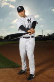 Jesus Montero of the New York Yankees poses for a photo during Spring Training Media Photo Day at George M Steinbrenner Field on February 25 2010 in...