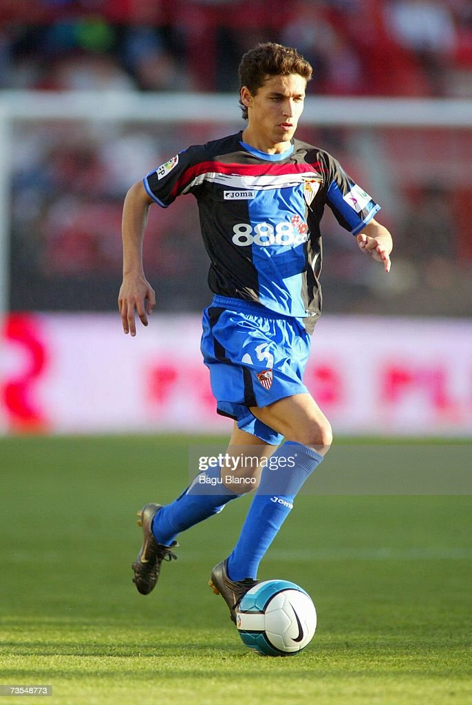 Jesus Navas of Sevilla runs during the match between Gimnastic de Tarragona and Sevilla of La Liga on March 11 2007 at the Nou Estadi stadium in...
