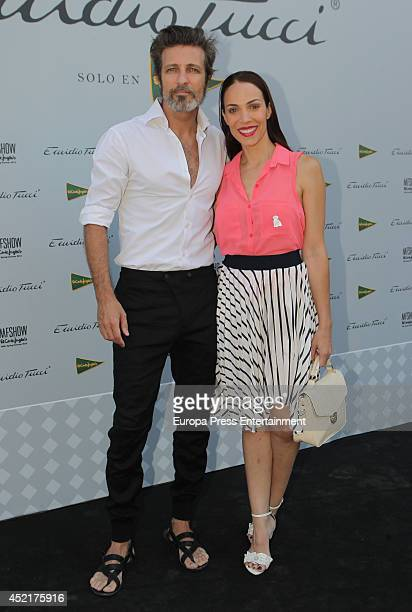 Jesus Olmedo and Nerea Garmendia attend photocall Emidio Tucci new collection 2015 presentation on July 14 2014 in Madrid Spain