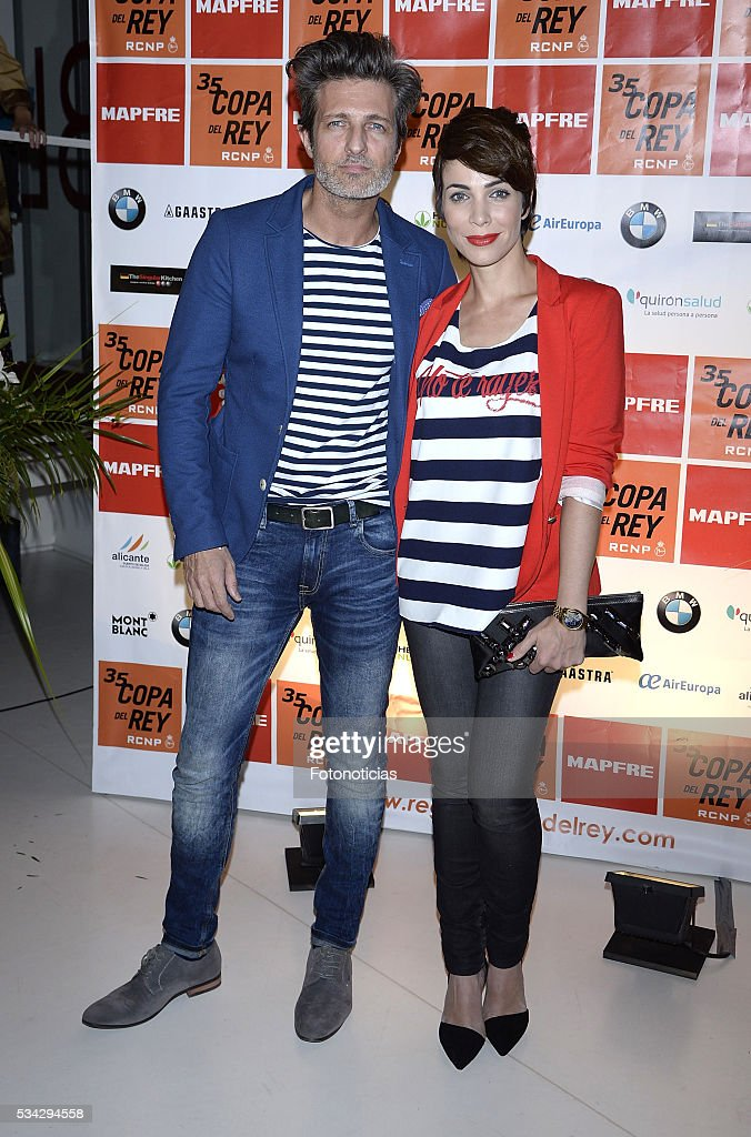 Jesus Olmedo and Nerea Garmendia attend the XXXV Copa del Rey Mapfre sailing trophy presentation at Las Letras Hotel on May 25, 2016 in Madrid, Spain.