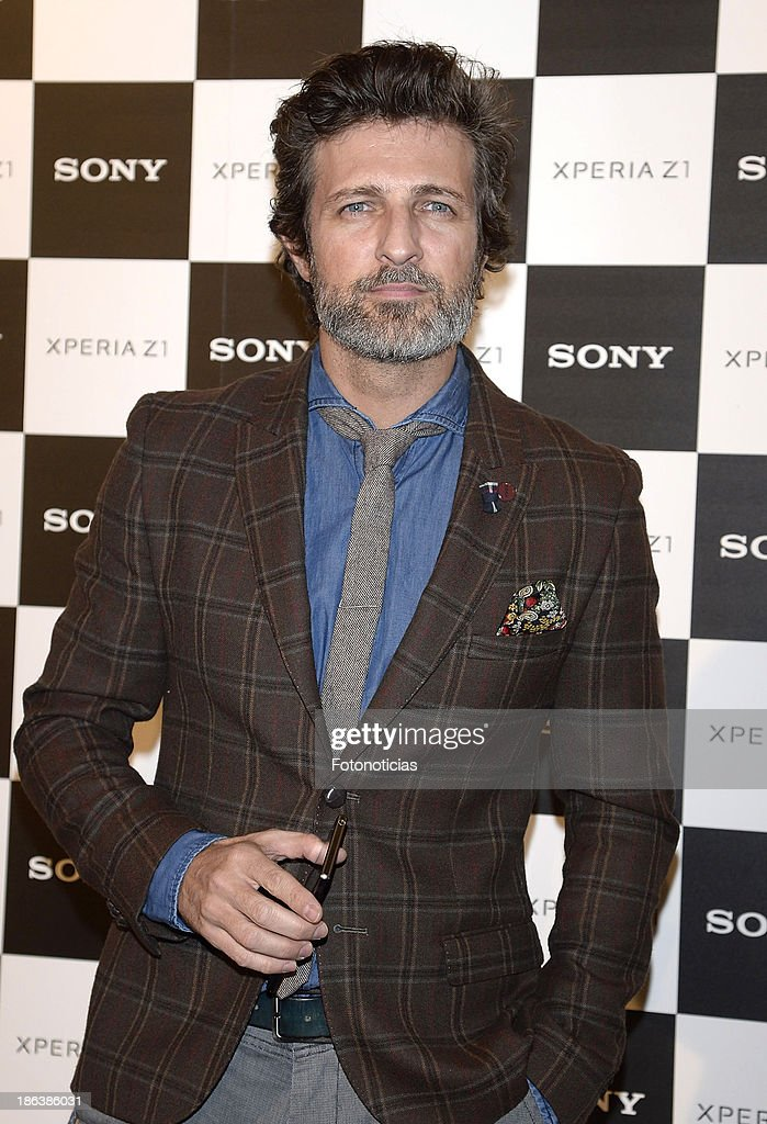 Jesus Olmedo attends Sony Xperia Z1 photography exhibition at the Real Jardin Botanico on October 30, 2013 in Madrid, Spain.