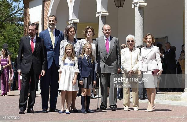 Jesus Ortiz King Felipe VI of Spain Princess Sofia of Spain Queen Sofia Princess Leonor of Spain Queen Letizia of Spain King Juan Carlos Menchu...