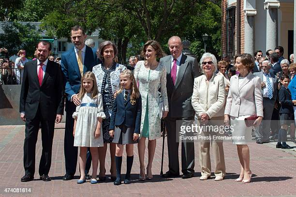 Jesus Ortiz King Felipe VI of Spain Princess Sofia of Spain Queen Sofia Princess Leonor of Spain Queen Letizia of Spain King Juan Carlos Menchu...