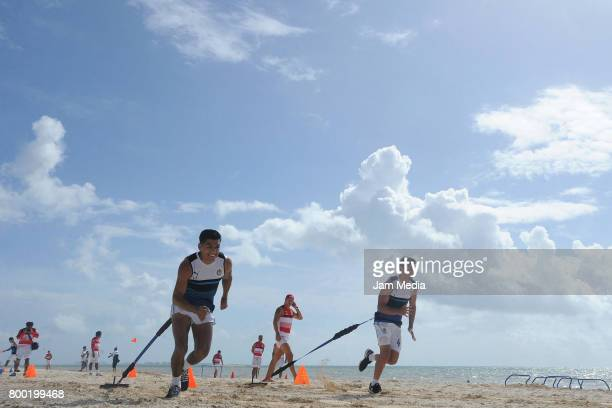 Jesus Sanchez of Chivas runs during the Pre Season training for the Torneo Apertura 2017 Liga MX at Hotel Moon Palace on June 23 2017 in Cancun Mexico