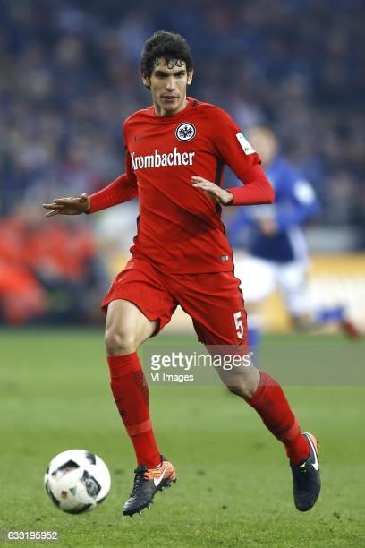 Jesus Vallejo of Eintracht Frankfurtduring the Bundesliga match between Schalke 04 and Eintracht Frankfurt on January 27 2017 at the VELTINSArena in...