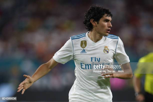 Jesus Vallejo of Real Madrid during the International Champions Cup 2017 match between Real Madrid and FC Barcelona at Hard Rock Stadium on July 29...