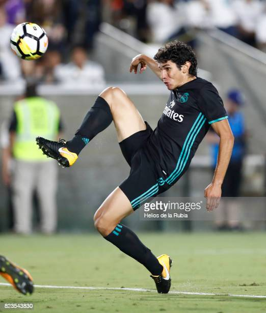 Jesus Vallejo of Real Madrid in action during the International Champions Cup 2017 match between Manchester City v Real Madrid at Memorial Coliseum...