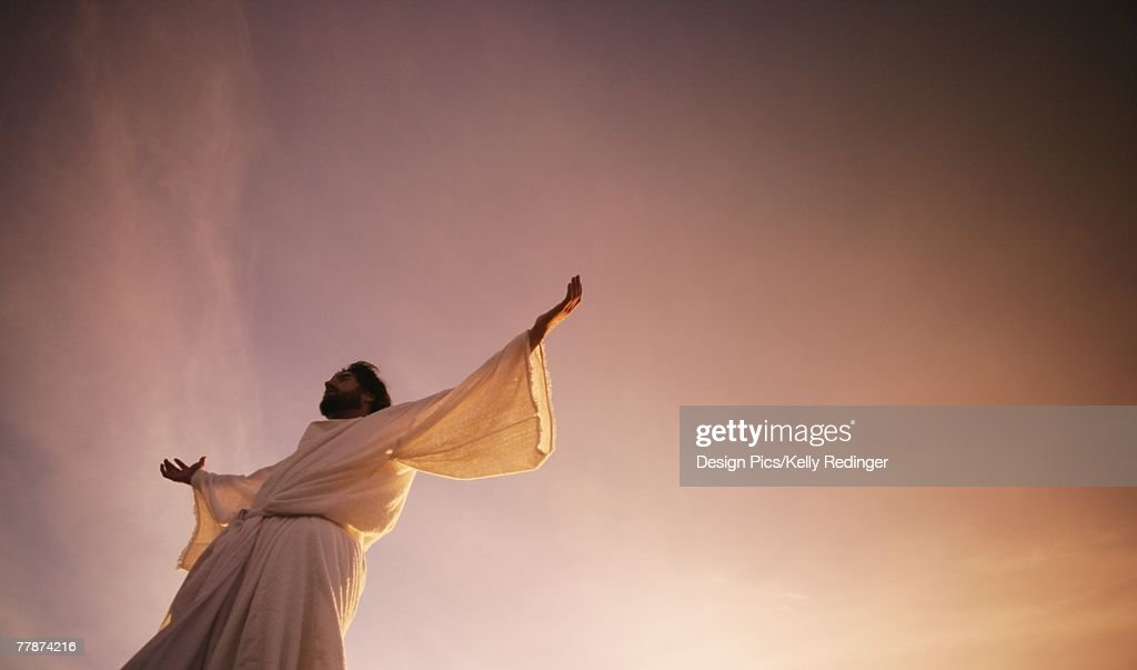 Jesus with arms outstretched : Stock Photo