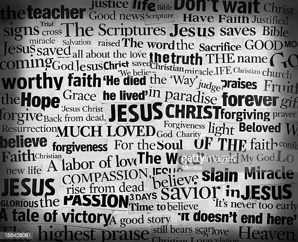 Jesus Words Headline Collage