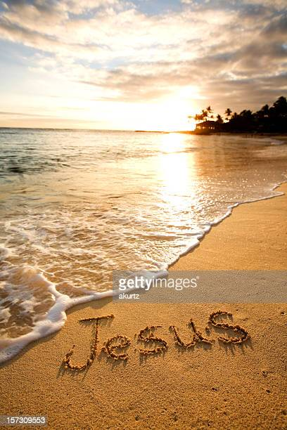 Jesus written in the sand