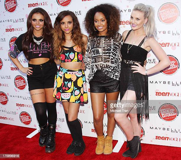 Jesy Nelson Jade Thirlwall LeighAnne Pinnock and Perrie Edwards of Little Mix attend Teen Vogue's 2nd annual 'BackToSchool Saturday' kick off party...
