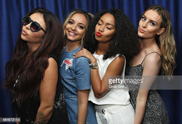 Jesy Nelson Jade Thirlwall LeighAnne Pinnock and Perrie Edwards of Little Mix visit the SiriusXM Studios on August 20 2015 in New York City